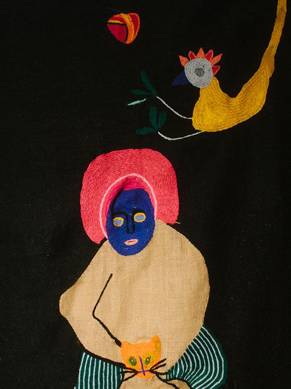 """Sesion """"Lenguas Vivas"""" exposición colectiva de arte textil contemporáneo"""